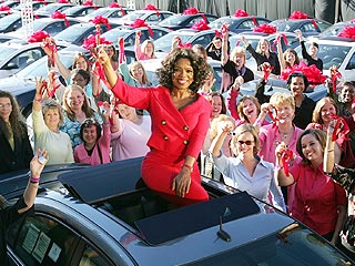 Oprah Gives Cars to Entire Studio Audience