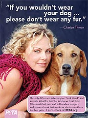 Charlize Theron Fights Fur-Wearing Stars