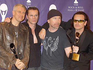 Bono in Rock Hall: Keep the Nobel Prize