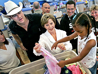 Laura Bush Guest Stars on Extreme Makeover