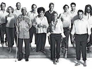 Mandela, Hanks Unite for AIDS Campaign