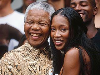 Naomi Campbell Visits Nelson Mandela