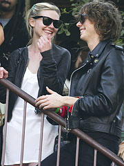 Kirsten Dunst & Johnny Borrell Cozy Up in London