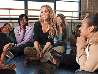 Elizabeth Berkley Helps Girls Build Self-Esteem