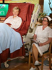 Ellen DeGeneres Hosting Shows from Hospital Bed