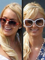 Lindsay Lohan & Paris Hilton Attend 4th Party