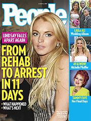 COVER STORY SNEAK PEEK: Lindsay's 'Friends' Enabled Meltdown