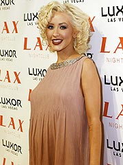 A Blue-Themed Baby Shower for Christina Aguilera