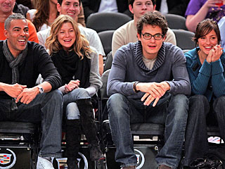 Ellen Pompeo and Minka Kelly Enjoy Basketball with Their Beaus