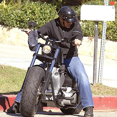 George Clooney Gets Back on His Motorcycle