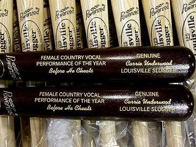 Carrie Underwood Gets Her Own 'Before He Cheats' Baseball Bat
