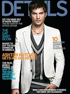 Ashton Kutcher Shows Off His 'Bedroom Eyes'