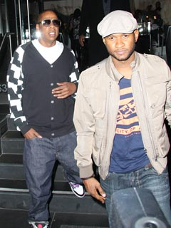 Jay-Z and Usher Hit Two L.A. Hot Spots