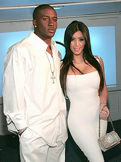 Kim Kardashian & Reggie Bush Host White Party