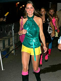 Kate Middleton Sparkles at Roller Disco Bash