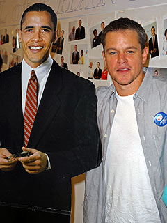Matt Damon Gets Out the Vote in Florida