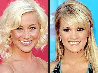 Kellie Pickler Gets Help Eating Her Veggies from Carrie Underwood