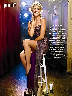 Heidi Klum Goes Glam for Milk