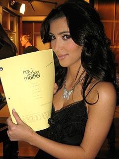 Kim Kardashian Brings Mom to Her TV Shoot