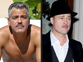 Clooney vs Pitt: Who Has the Sexier 'Stache?