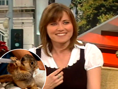 Lucy Lawless is Squirrel's Hero