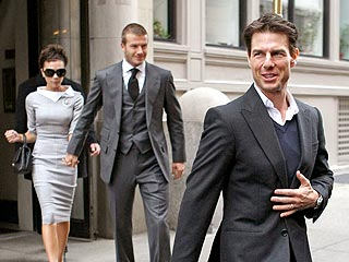 Tom Cruise & David Beckham Families Hook Up for the Holiday