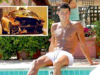 Soccer Hunk Cristiano Ronaldo Totals Ferrari