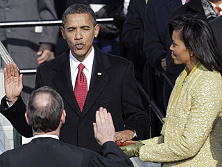 Barack Obama Sworn In as 44th President