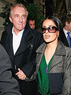 Salma Hayek and Husband Shine at Paris Fashion Week