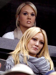 Hilary Duff, Carrie Underwood Sit Rinkside for NHL Beaus