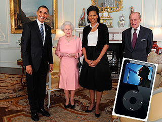 Obamas Bearing Gifts: An iPod for the Queen!