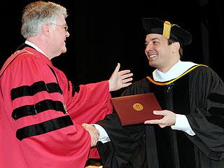 No Joke: Jimmy Fallon Finally Gets His College Diploma