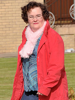 Susan Boyle's Feathered Look