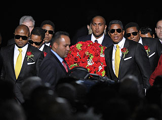 Casket Carrying King of Pop Arrives at Staples Center