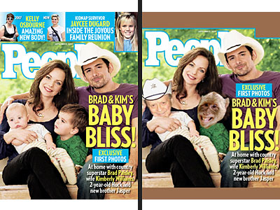 Brad Paisley Redesigns Cover of PEOPLE!