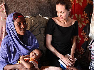 PHOTOS: Angelina Jolie Reaches Out to African Refugees