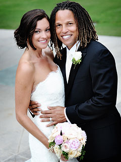 L.A. Galaxy Soccer Star Cobi Jones Weds