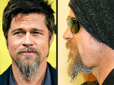 PHOTO: Brad Pitt Wears Beads in his Beard