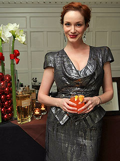 Christina Hendricks's Holiday Party Must: Spiced Pumpkin Cocktail!