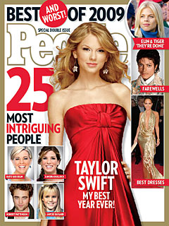 Taylor Swift Makes Cover of PEOPLE's 25 Most Intriguing People of 2009