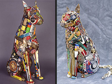 Animal Lovers Treasure Leo Sewell's Trash Art
