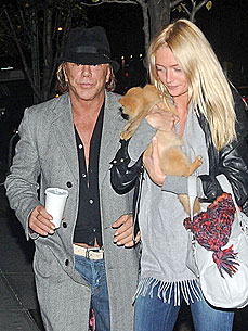 Mickey Rourke Helps Gal Pal Pick Out a Puppy