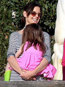 Spotted: Tom and Katie Take Suri to a Private Playground – the Zoo!