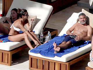George Clooney and Elisabetta Canalis Ring in 2010 in Mexico