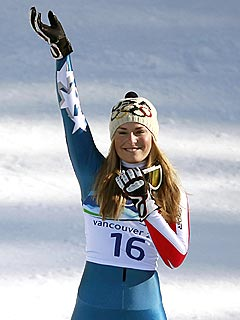 Lindsey Vonn Wins Gold in Women's Downhill Ski Event
