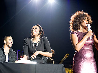 Whitney Houston Surprises Daughter with Cake – and Tunes – on Stage