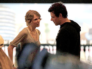 Taylor Swift Kicks Cory Monteith's Behind at Bowling