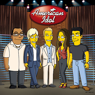 FIRST LOOK: American Idol Judges Visit The Simpsons