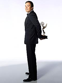 PHOTO: Jimmy Fallon Strikes a Pose with Emmy Award