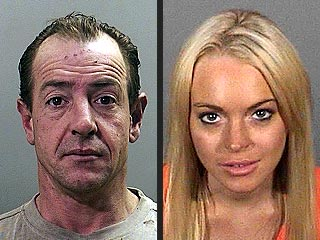 PHOTOS:  Lohan Father & Daughter Mug Shots